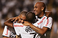 20100224: SAO PAULO, BRAZIL - Corinthians vs Racing Club Montevideo: Copa Libertadores 2010. In picture: Elias (Corinthians) celebrating goal with Ronaldo (L) and Souza (R). PHOTO: CITYFILES