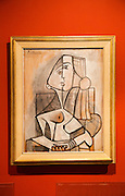 'Woman in a Chair' 1953, by Pablo Picasso (1881-1973), oil on canvas, Kode 4 art gallery Bergen, Norway - check copyright status for intended use