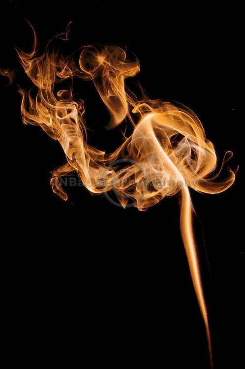Fiery streaks of smoke