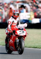 CARL FOGARTY GB DUCATI  966 SUPERBIKE, World Supersport Superbike Championship Round 2 Donington Park 13th April 1998