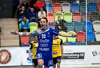 2019-04-23 | Jönköping, Sweden: IF Hallby HK (20) Felix Thyberg during the qualifying game 4 to Swedish Handball League between IF Hallby HK and HIF Karlskrona at Idrottshuset ( Photo by: Marcus Vilson | Swe Press Photo )<br /> <br /> Keywords: Idrottshuset, Jönköping, Handball, Qualifying Game 4, IF Hallby HK, HIF Karlskrona, Sport
