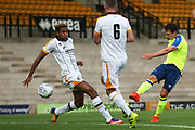Derby County's Craig Bryson shoots during the Pre-Season Friendly match between Port Vale and Derby County at Vale Park, Burslem, England on 18 July 2017. Photo by John Potts.