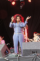 LONDON - JUNE 17: Chaka Khan performs at Lovebox, Victoria Park, London, UK. June 17, 2012. (Photo by Richard Goldschmidt)