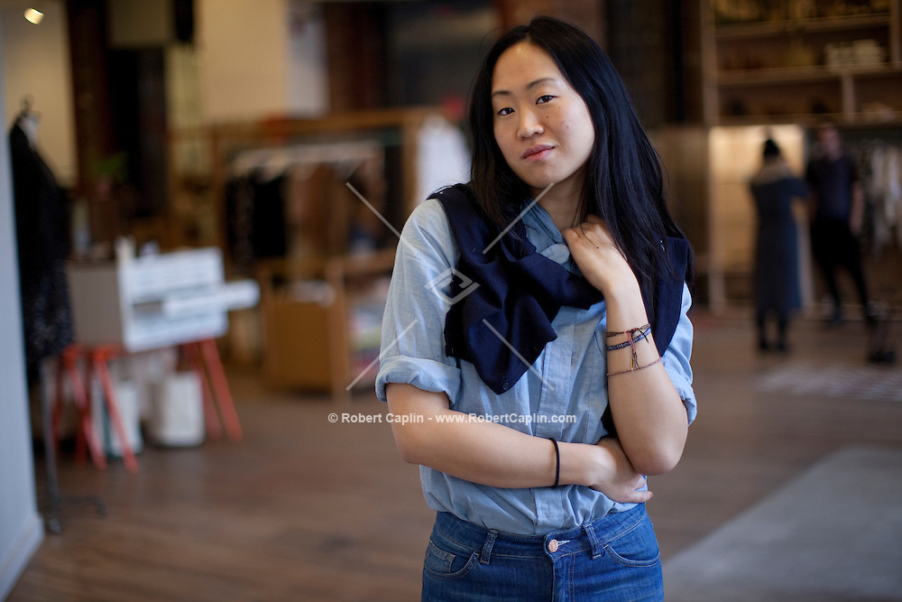 Jade Lai, the founder of the clothing store Creatures of Comfort in New York. ..Photo by Robert Caplin.