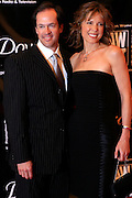 Hannah Storm and husband Dan Hicks arrives at The 33rd Annual American Women in Radio & Television's Gracie Allen Awards held at Marriot Marquis Hotel on May 28, 2008..The year 2008 marks the 57th Anniversary of American Women in Radio & Television(AWRT), the longest established prfessional association dedicated to advancing women in media and entertainment. AWRT carries forth the mission by educating, advocating and acting as a resource to its members and the industry at large.