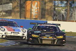 March 15, 2019 - Sebring, UNITED STATES OF AMERICA - 19 MOORESPEED (USA) AUDI R8 LMS GT3 GTD ANDREW DAVIS (USA) ALEX RIBERAS (ESP) WILL HARDEMAN  (Credit Image: © Panoramic via ZUMA Press)