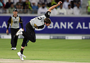 Ian Butler bowling during the first ICC Twenty20 (Twenty Twenty) match between Pakistan and New Zealand held at the Dubai International Cricket Stadium, Dubai, UAE, 12 November, 2009. Photo: SPORTDXB / PHOTOSPORT