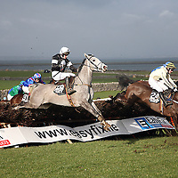 M O' Hare on Silver Haven in action in the third at the 2007 Bellhabour Point to Point on Sunday.<br /><br /><br /><br />Photograph by Yvonne Vaughan.
