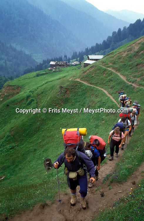 Kackar Mountains, Turkey, 1997. Trekking the Kackar mountain along the eastern Black Sea coast of Turkey is a spectacular affair. Photo by Frits Meyst/Adventure4ever.com