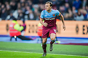Mark Noble (Capt) (West Ham) during the Premier League match between West Ham United and Arsenal at the London Stadium, London, England on 9 December 2019.