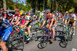 Peloton with riders of Team Lotto NL - Jumbo (NED) on the Grebbeberg at Rhenen, stage 2 from Arnhem to Nijmegen running 190 km of the 99th Giro d'Italia (UCI WorldTour), The Netherlands, 7 May 2016. Photo by Pim Nijland / PelotonPhotos.com | All photos usage must carry mandatory copyright credit (Peloton Photos | Pim Nijland)