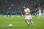 Gaetano Berardi of Leeds United during the EFL Sky Bet Championship match between Cardiff City and Leeds United at the Cardiff City Stadium, Cardiff, Wales on 26 September 2017. Photo by Andrew Lewis.