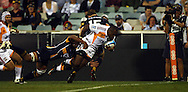 Sitiveni Sivivatu scores.Super 14 rugby union match, Brumbies v Cheifs, Canberra, Australia. Saturday 19 February 2011. Photo: Paul Seiser/PHOTOSPORT.../SPORTZPICS