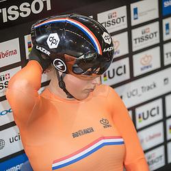 03-03-2018: Wielrennen: WK Baan: Apeldoorn<br />Elis Ligtlee pakt brons op de 500meter op haar thuisbaan in Apeldoorn