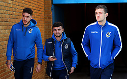Ryan Sweeney, Dominic Telford and Adam Smith of Bristol Rovers arrive at The MEMS Priestfield Stadium, home of Gillingham for the Sky Bet League One fixture - Mandatory by-line: Robbie Stephenson/JMP - 16/12/2017 - FOOTBALL - MEMS Priestfield Stadium - Gillingham, England - Gillingham v Bristol Rovers - Sky Bet League One