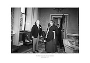 The Dalai Lama visits President Childers at áras an Uachtaráin.<br />