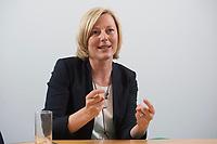 15 MAY 2013, BERLIN/GERMANY:<br /> Prof. Dr. Gesche Joost, Professorin an der Universitaet der Kuenste Berlin, Fachgebiet Designforschung, und Mitglied im Kompetenzteam von SPD Kanzlerkandidat P eer S teinbrueck,<br /> waehrend einem Interview, Willy-Brandt-Haus<br /> IMAGE: 20130515-01-020<br /> KEYWORDS: Wahlkampfteam