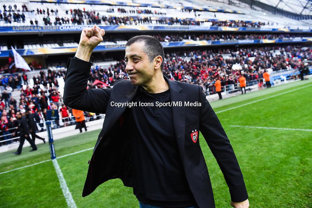 Joie Mourad Boudjellal - 19.04.2015 - Toulon / Leinster - 1/2Finale European Champions Cup -Marseille<br />Photo : Andre Delon / Icon Sport