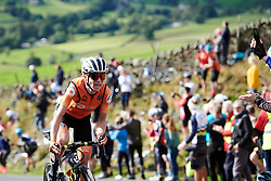 Annemiek van Vleuten (NED) attacks on the Lofthouse climb at UCI Road World Championships 2019 Women's Elite Road Race a 149.4 km road race from Bradford to Harrogate, United Kingdom on September 28, 2019. Photo by Sean Robinson/velofocus.com