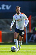 Luton Town midfielder Andrew Shinnie (11) during the EFL Sky Bet League 1 match between Charlton Athletic and Luton Town at The Valley, London, England on 13 April 2019.