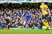 Chelsea's Willian on the ball during the The FA Cup third round match between Chelsea and Scunthorpe United at Stamford Bridge, London, England on 10 January 2016. Photo by Shane Healey.