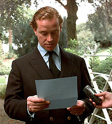Major James Hewitt reads out his statement,  at the gates of Eversfield Manor, his home at Bratton, Clovelly, following the death of his former lover, Diana, The Princess of Wales.