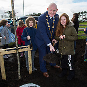 08.03.2017              <br /> Limerick City and County Council is giving away 2,000 saplings to communities and groups as part of National Tree Week.  Saplings can be collected at recycling bring centres in Mungret, Kilmallock and Newcastle West.Limerick City and County Council Tree Planting with Limerick City East Educate Together National School, Mungret Park.            <br /> Pictured at the event were, Mayor of Limerick City and County Limerick, Cllr. Kieran O'Hanlon and 3rd class Limerick City East Educate Together pupil, Naoise O'Donnell. Picture: Alan Place