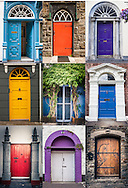 Irish Doorways Collage, Ireland