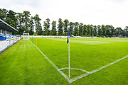 A general view of the pitch before the Pre-Season Friendly match between Tadcaster Albion and Leeds United at i2i Stadium, Tadcaster, United Kingdom on 17 July 2019.