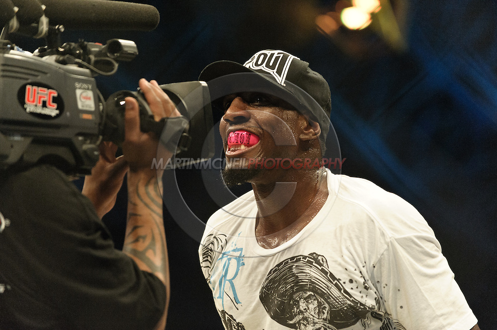 "ABU DHABI, UNITED ARAB EMIRATES, APRIL 10, 2010: Phil Davis is pictured after winning his fight at ""UFC 112: Invincible"" inside Ferari World, Abu Dhabi on April 10, 2010"