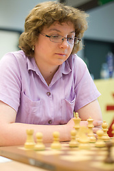 Lea Stevanec in action during the Slovenian National Chess Championships in Ljubljana on August 9, 2010.  (Photo by Vid Ponikvar / Sportida)