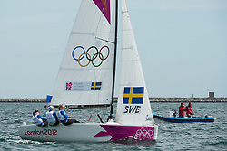 2012 Olympic Games London / Weymouth<br /> <br /> Match Race Training<br /> Match RaceSWEKjellberg Anna, Harrysson Lotta, K?llstr?m Malin