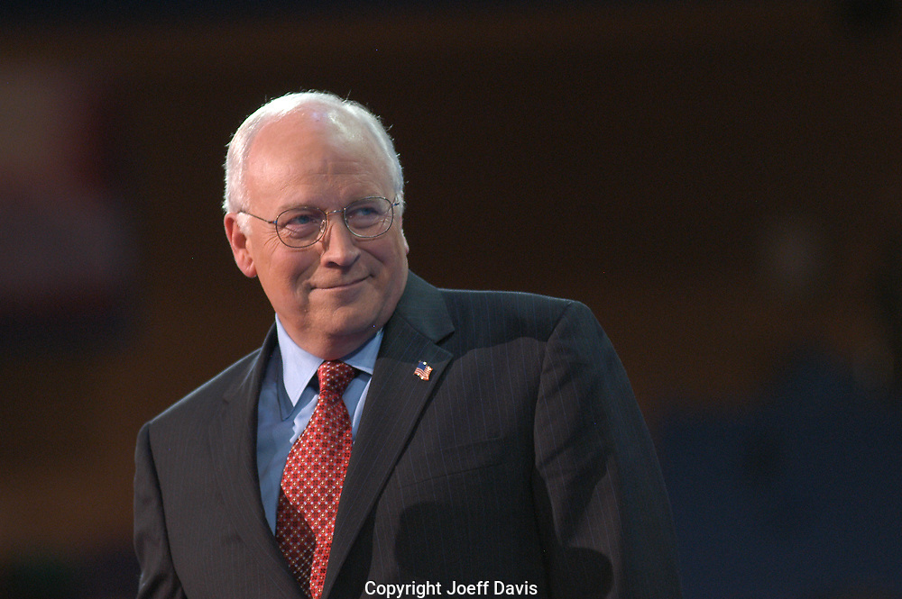 NEW YORK, NY-Sept 1, 2004: Vice President Dick Cheney speaks at the 2004 Republican National Convention.