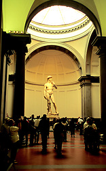 "Florence, Italy:  Seeing Michelangelo's ""David"" at the Galleria dell'Accademia is high on every visitor's sightseeing list."