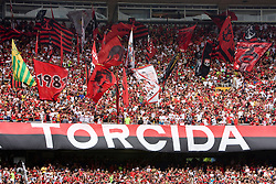 Maracana, no Rio de Janeiro. Torcida do Flamengo. Disputa da final do campeonato estadual 2008. Flamengo 3 x 1 Botafogo. /  Final game of Rio de Janeiro State Championship. Flamengo 3 x 1 Botafogo. Flamengo's football/soccer team -- the most popular in Brazil with 40 million estimated supporters.