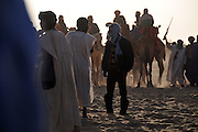 Waiting for the results of the camels race organized during the 11th edition of the Festival au Désert in Timbuktu