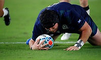 Rugby Union - 2019 Rugby World Cup - Pool A: Japan vs. Scotland<br /> <br /> Zander Fagerson of Scotland scores his try at International Stadium Yokohama, Kanagawa Prefecture, Yokohama City.<br /> <br /> COLORSPORT/LYNNE CAMERON