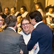 NLD/Amsterdam/20190408 - Willem van Hanegem onthult Eredivisie-bal in Rijksmuseum , Willem van Hanegem