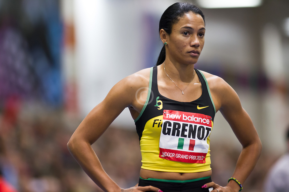New Balance Indoor Grand Prix track meet: Women's 400 meters, Libania Grenot