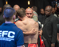 JOHANNESBURG, SOUTH AFRICA - DECEMBER 11:Chad Hanekom vs. Ruben Groenewald - catchweight - during the EFC Worldwide 46 Fight Night at Carnival City Casino on 12 December 2015 in Johannesburg, South Africa. (Photo by Anton Geyser/ EFC Worldwide)
