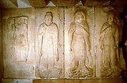 Carving in cave shrine, Sokkuram, near Kyongju, South Korea. Photograph. UNESCO photograph.