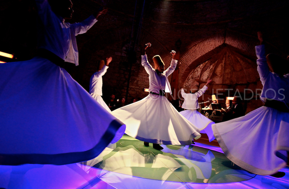 Istanbul,Turkeye,2010 Known to the west as Whirling Dervishes.  The Order wrote of tolerance, forgiveness, and enlightenment. They survive today as a cultural brotherhood. Exclusive at AuroraPhotos.<br />