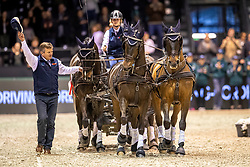 Exell Boyd, AUS, Bajnok, Demi, Barny, Rocket<br /> Boyd retiering his 23 year old wheeler Demi, she won 5 World Cup finals<br /> Jumping International de Bordeaux 2020<br /> © Hippo Foto - Dirk Caremans<br />  09/02/2020