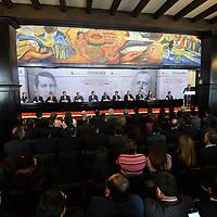 Toluca, México (Febrero 05, 2018).- Alejadro Ozuna, Secretario General de Gobierno encabezo la ceremonia de Aniversario de la promulgacion de las Constituciones Federales de 1857 Y 1917.  Agencia MVT / Crisanta Espinosa.