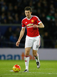 Michael Carrick of Manchester United in action  - Mandatory byline: Jack Phillips/JMP - 07966386802 - 28/11/2015 - SPORT - FOOTBALL - Leicester - King Power Stadium - Leicester City v Manchester United - Barclays Premier League