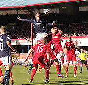 Dundee's James McPake towers above the Aberdeen defence  - Dundee v Abderdeen, SPFL Premiership at Dens Park<br /> <br />  - &copy; David Young - www.davidyoungphoto.co.uk - email: davidyoungphoto@gmail.com