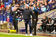 Bolton Wanderers manager Keith Hill during the EFL Sky Bet League 1 match between Bolton Wanderers and Fleetwood Town at the University of  Bolton Stadium, Bolton, England on 2 November 2019.