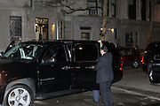 President Clinton's Motorcade at The New York Historical Society's History Makers Award Gala honoring President Bill Clinton and opening of the exhibition ' Lincoln and New York ' held at The New York Historical Society on October 7, 2009 in New York City.