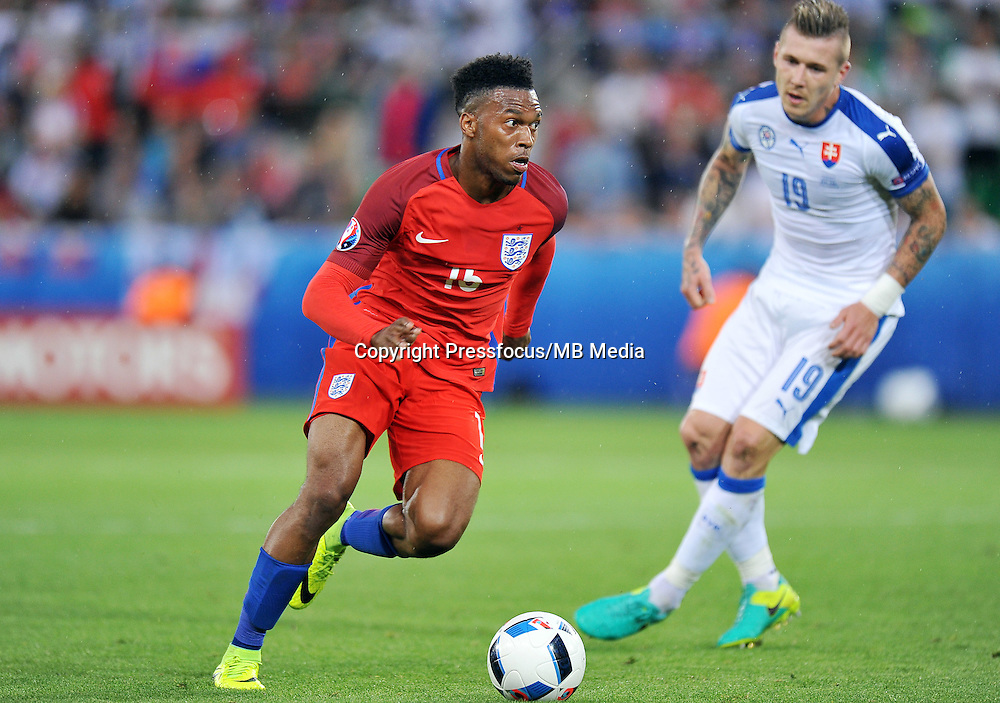 2016.06.20 Saint Etienne<br /> Pilka nozna Euro 2016<br /> mecz grupy B Slowacja - Anglia<br /> N/z Daniel Sturridge<br /> Foto Norbert Barczyk / PressFocus<br /> <br /> 2016.06.20 Saint Etienne<br /> Football UEFA Euro 2016 group B game between Slovakia and England<br /> Daniel Sturridge<br /> Credit: Norbert Barczyk / PressFocus