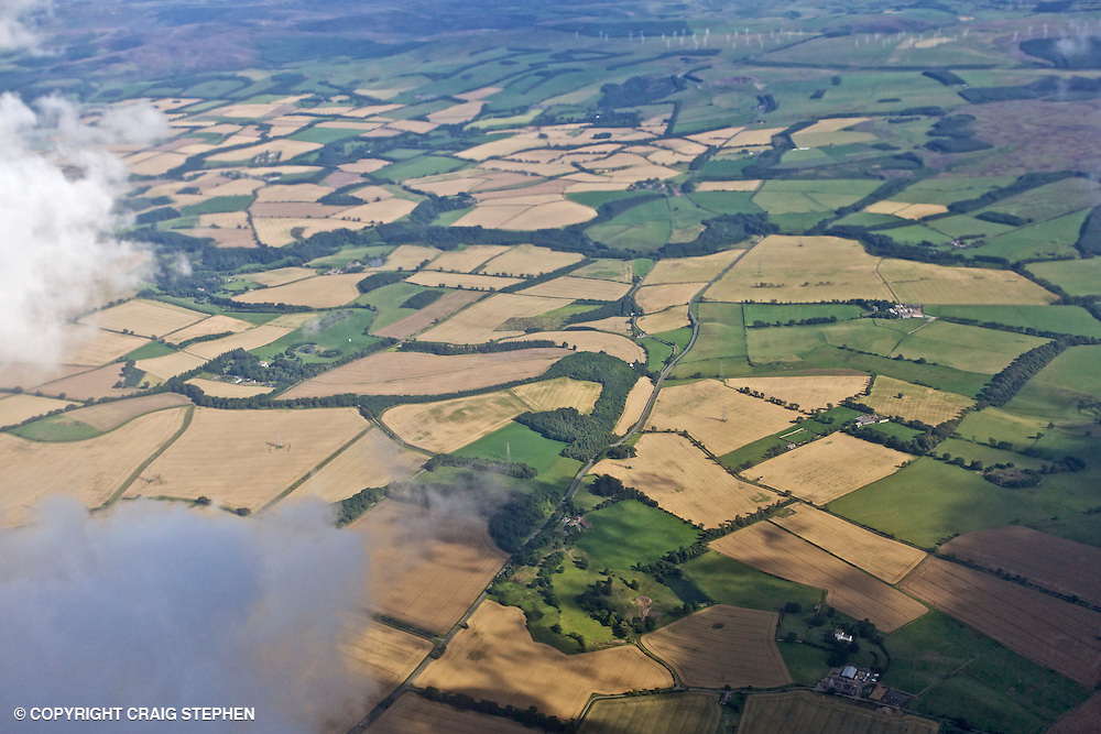 East Lothian in August from the air